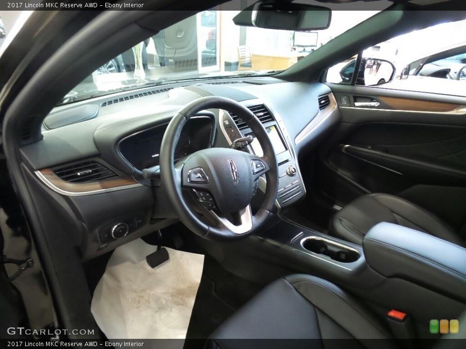 Ebony Interior Photo for the 2017 Lincoln MKC Reserve AWD #118605431