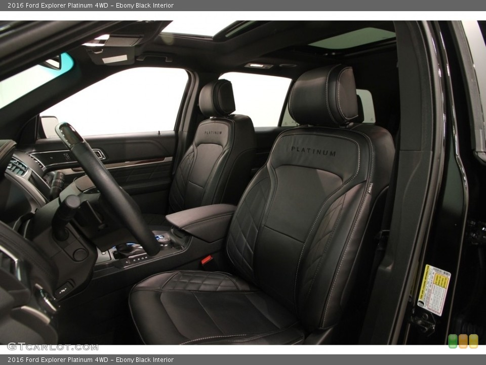 Ebony Black Interior Photo for the 2016 Ford Explorer Platinum 4WD #118881295