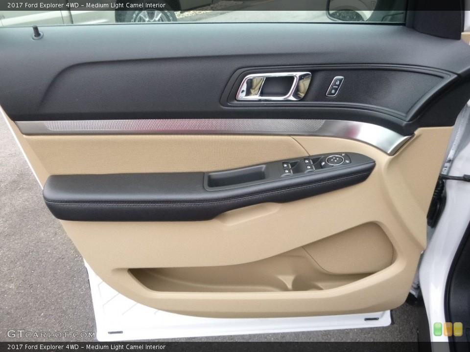 Medium Light Camel Interior Door Panel for the 2017 Ford Explorer 4WD #118881943