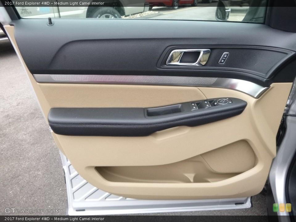 Medium Light Camel Interior Door Panel for the 2017 Ford Explorer 4WD #118882963