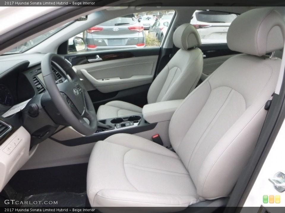 Beige 2017 Hyundai Sonata Interiors