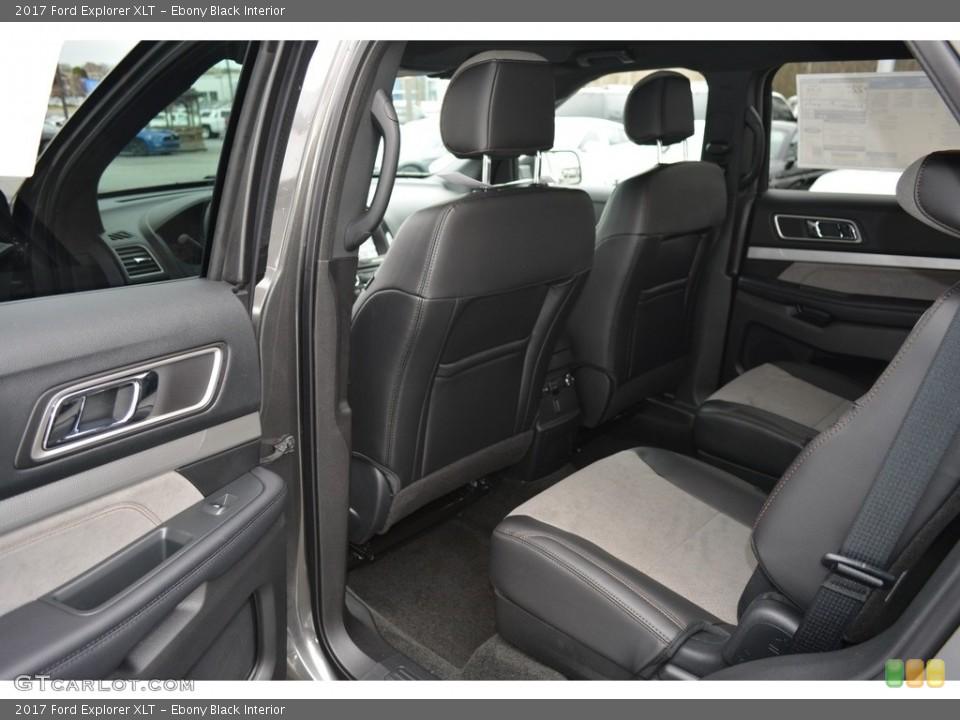 Ebony Black Interior Rear Seat for the 2017 Ford Explorer XLT #119392682