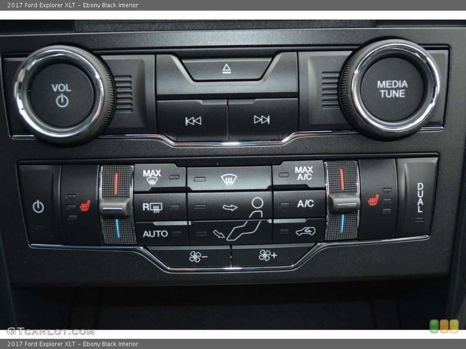 Ebony Black Interior Controls for the 2017 Ford Explorer XLT #119392850
