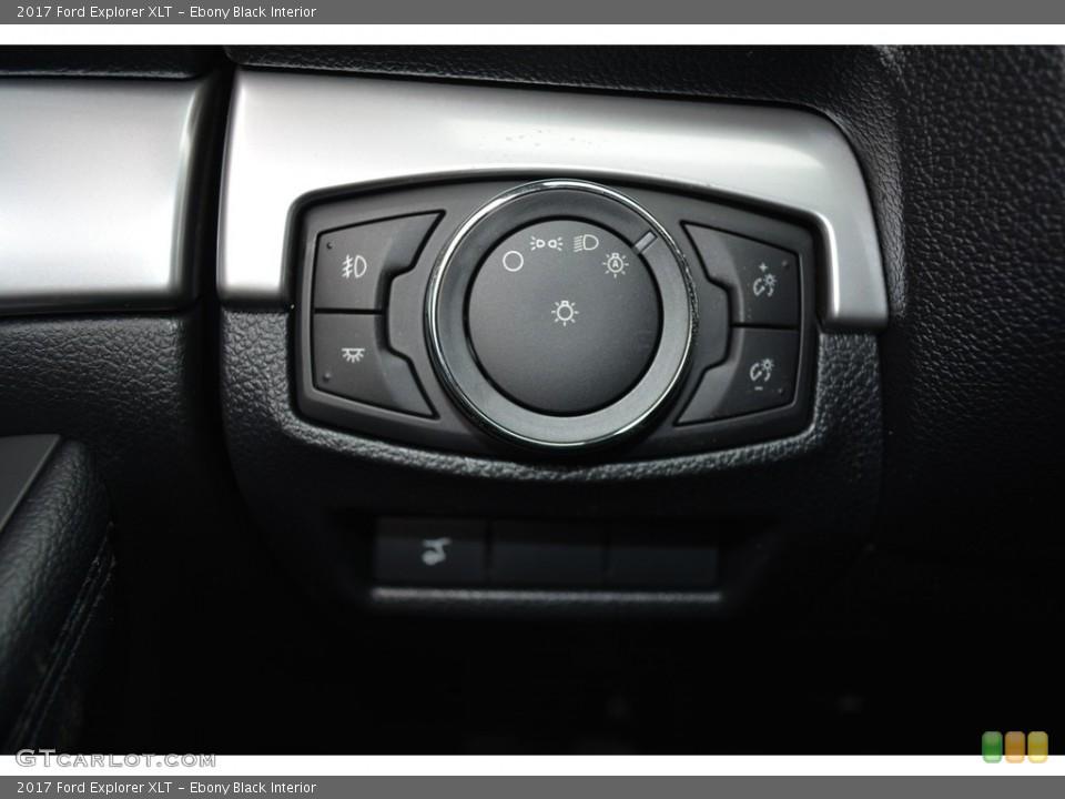 Ebony Black Interior Controls for the 2017 Ford Explorer XLT #119392937