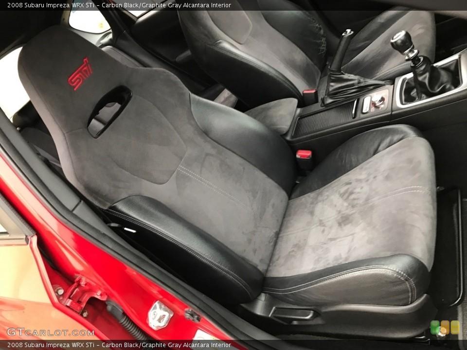 Carbon Black/Graphite Gray Alcantara Interior Front Seat for the 2008 Subaru Impreza WRX STi #119606301