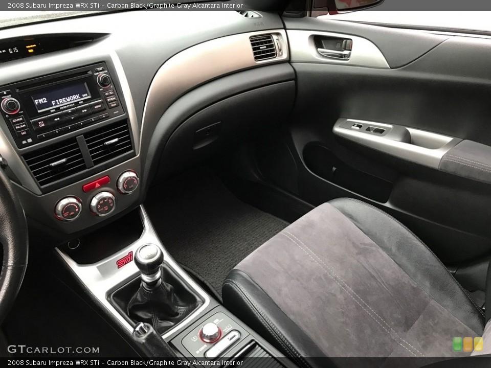 Carbon Black/Graphite Gray Alcantara Interior Dashboard for the 2008 Subaru Impreza WRX STi #119606361