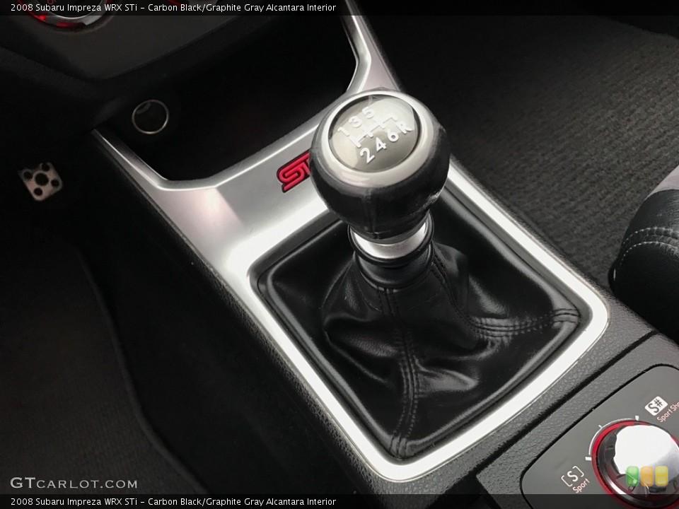 Carbon Black/Graphite Gray Alcantara Interior Transmission for the 2008 Subaru Impreza WRX STi #119606642