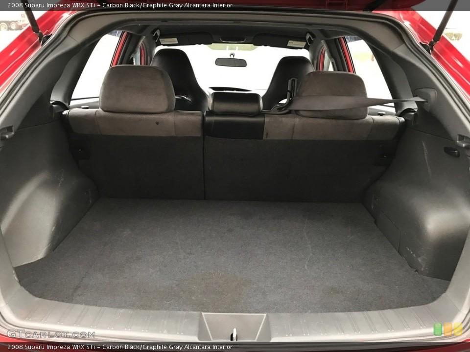 Carbon Black/Graphite Gray Alcantara Interior Trunk for the 2008 Subaru Impreza WRX STi #119607642
