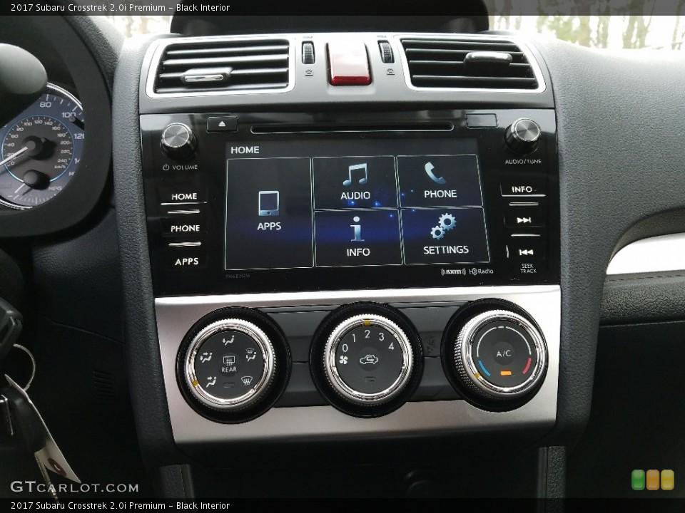 Black Interior Controls for the 2017 Subaru Crosstrek 2.0i Premium #119829395