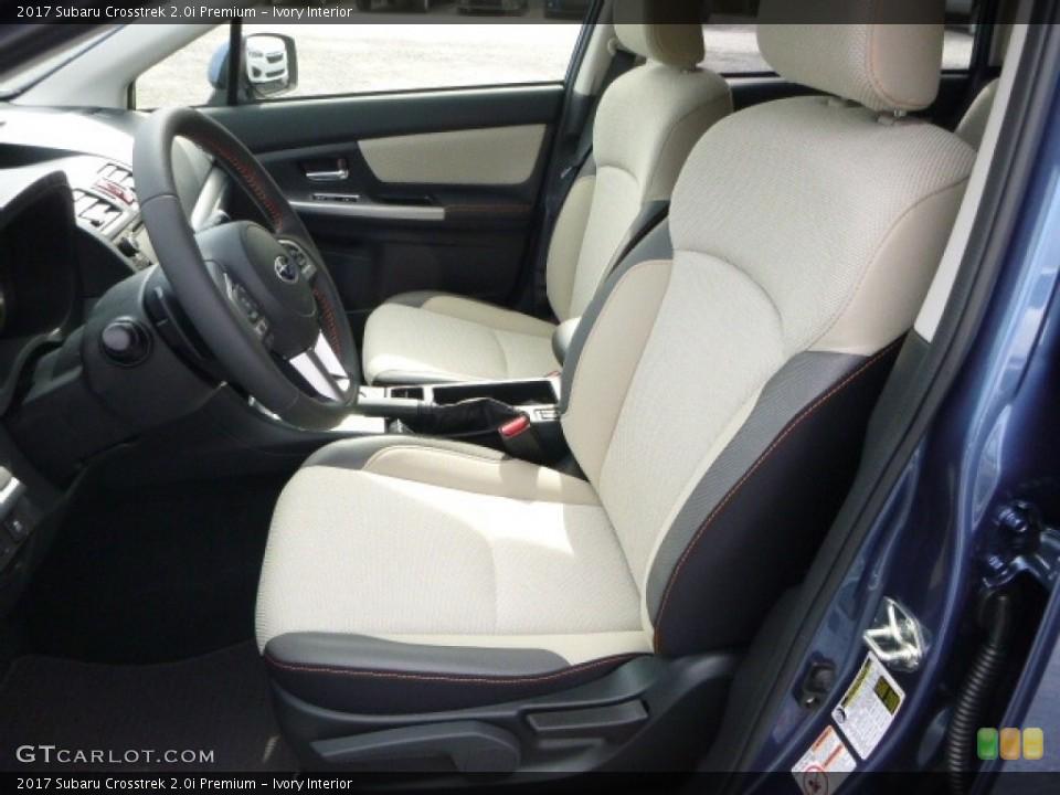 Ivory Interior Front Seat for the 2017 Subaru Crosstrek 2.0i Premium #119829755
