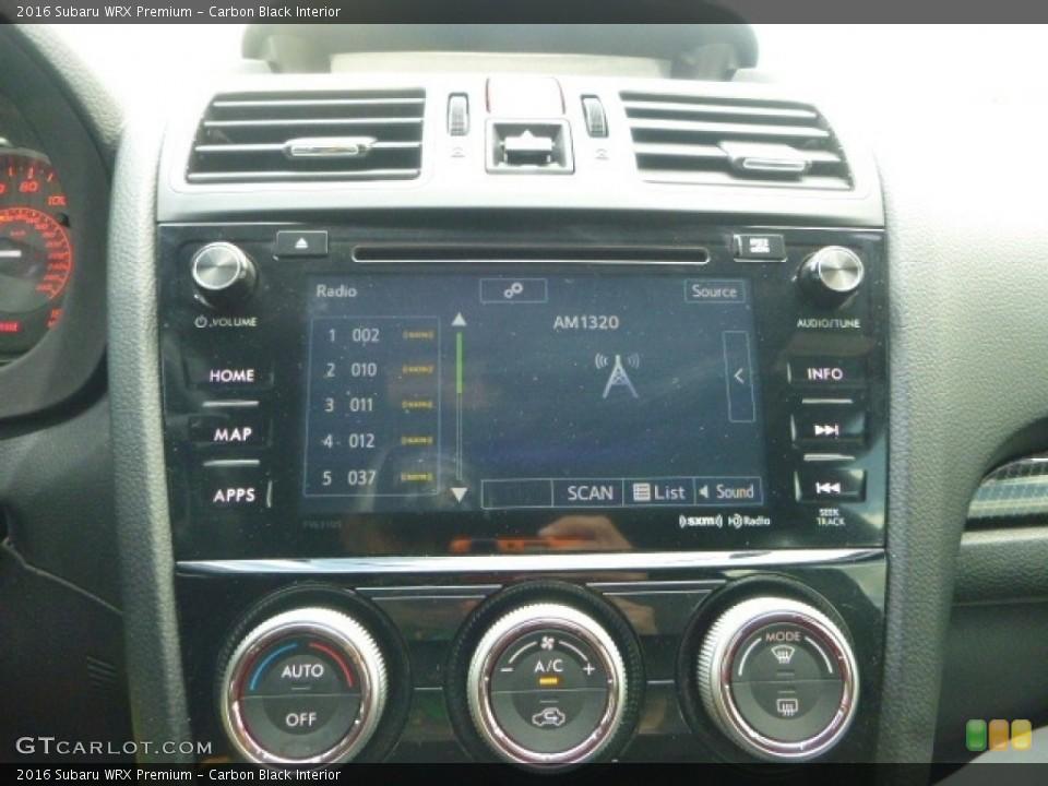 Carbon Black Interior Audio System for the 2016 Subaru WRX Premium #120221118