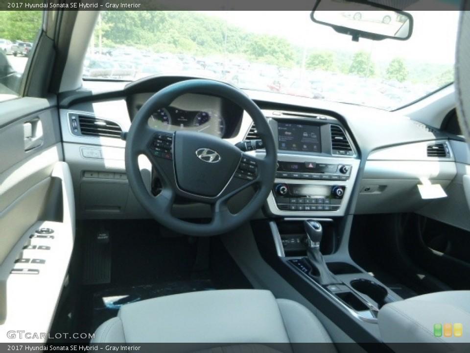 Gray 2017 Hyundai Sonata Interiors