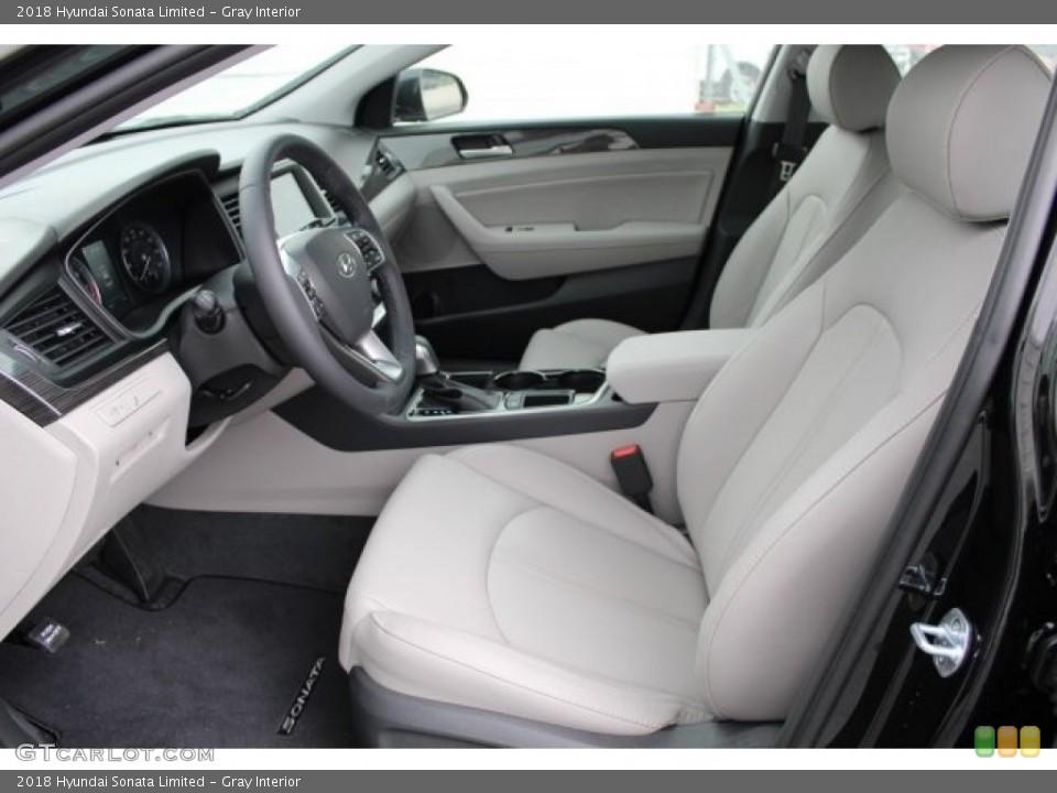 Gray 2018 Hyundai Sonata Interiors