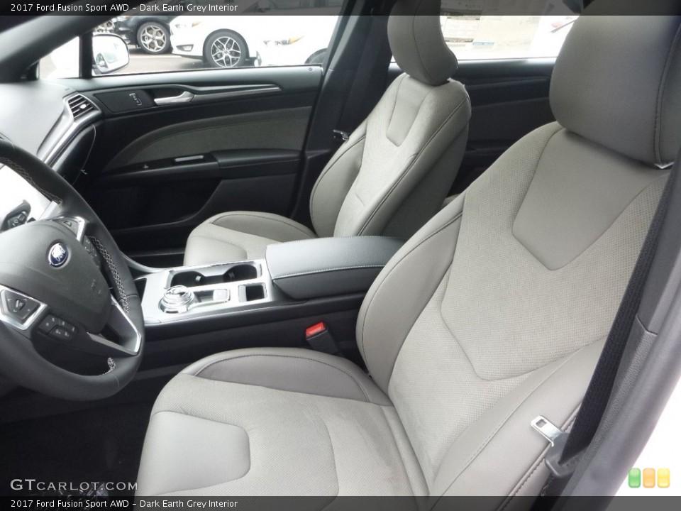 Dark Earth Grey 2017 Ford Fusion Interiors