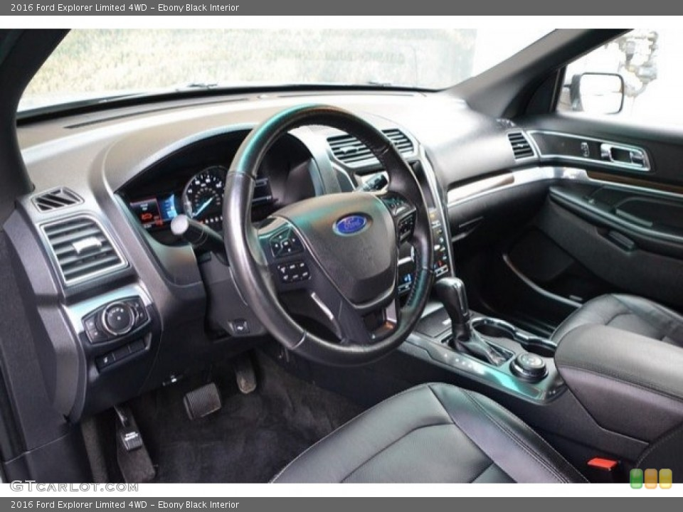 Ebony Black Interior Photo for the 2016 Ford Explorer Limited 4WD #121875166