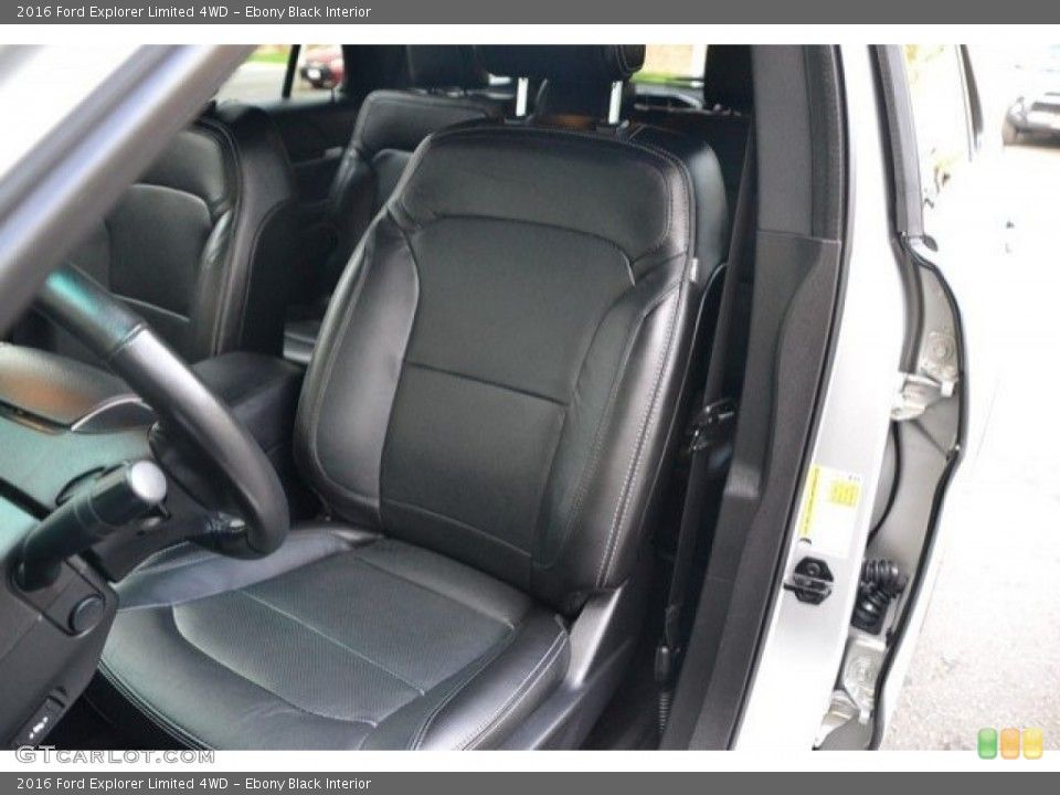 Ebony Black Interior Front Seat for the 2016 Ford Explorer Limited 4WD #121875196