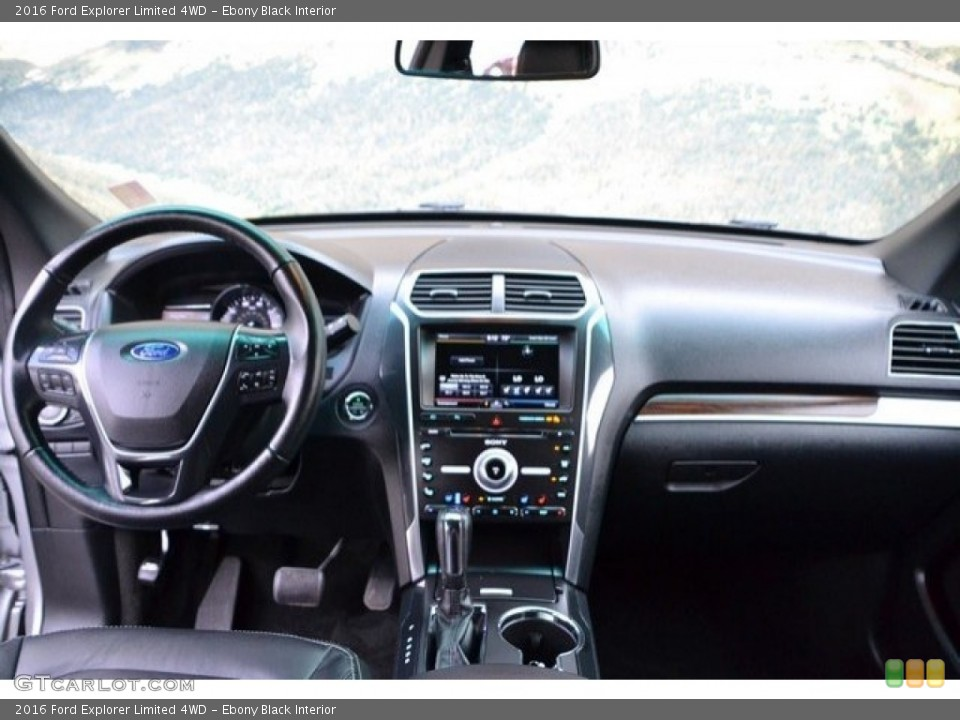 Ebony Black Interior Dashboard for the 2016 Ford Explorer Limited 4WD #121875217