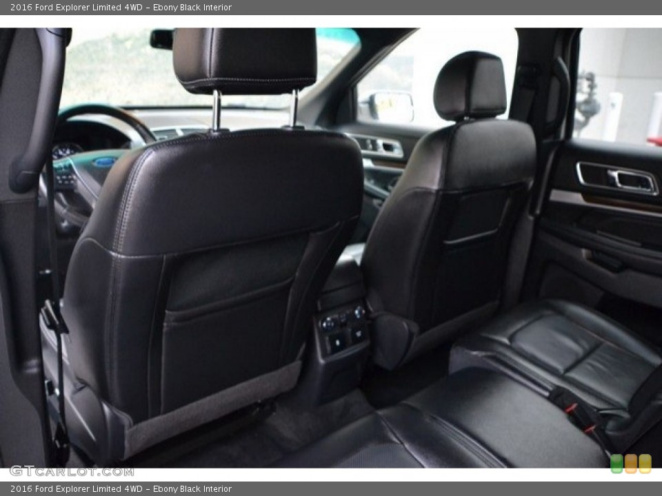 Ebony Black Interior Rear Seat for the 2016 Ford Explorer Limited 4WD #121875310
