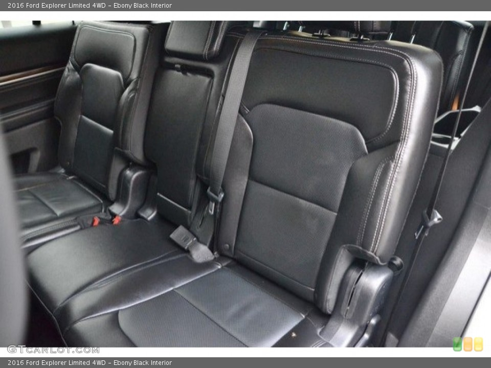 Ebony Black Interior Rear Seat for the 2016 Ford Explorer Limited 4WD #121875337