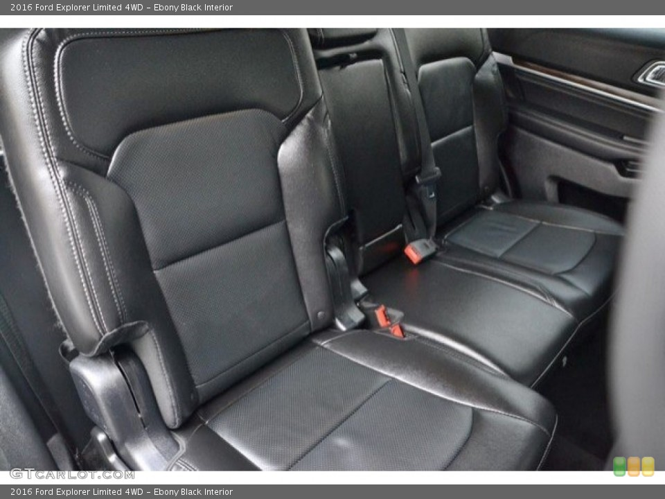 Ebony Black Interior Rear Seat for the 2016 Ford Explorer Limited 4WD #121875355