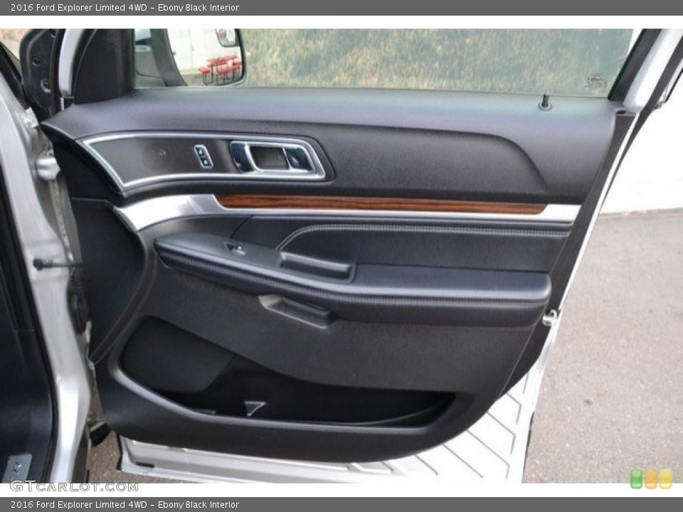 Ebony Black Interior Door Panel for the 2016 Ford Explorer Limited 4WD #121875412