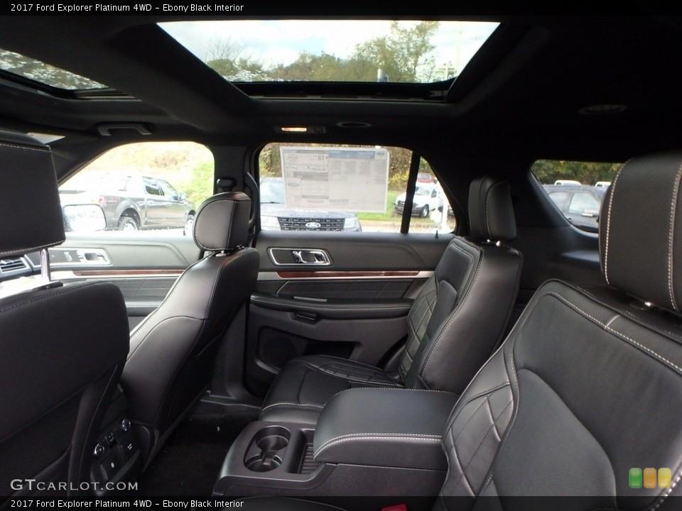 Ebony Black Interior Rear Seat for the 2017 Ford Explorer Platinum 4WD #123483778