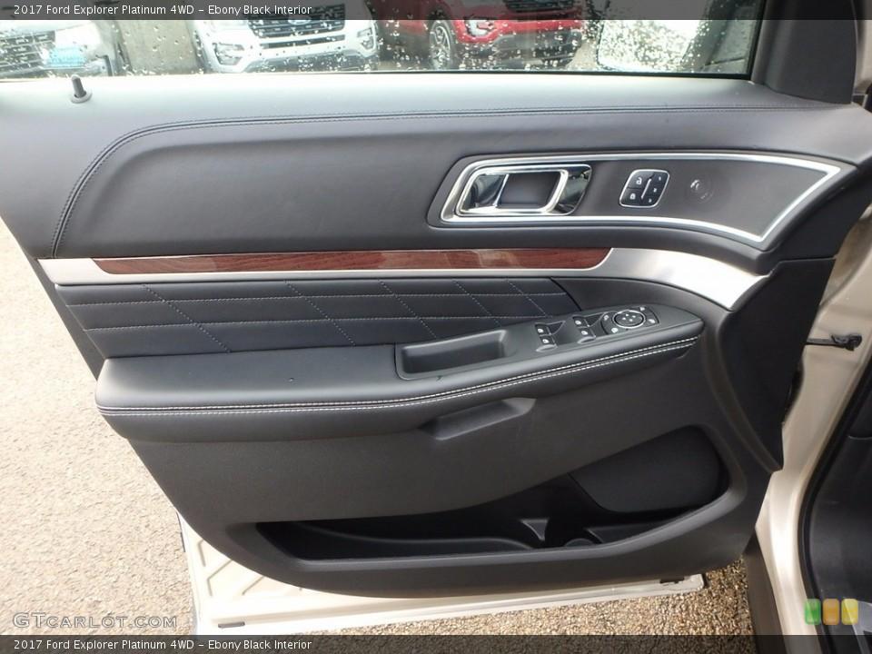 Ebony Black Interior Door Panel for the 2017 Ford Explorer Platinum 4WD #123483823