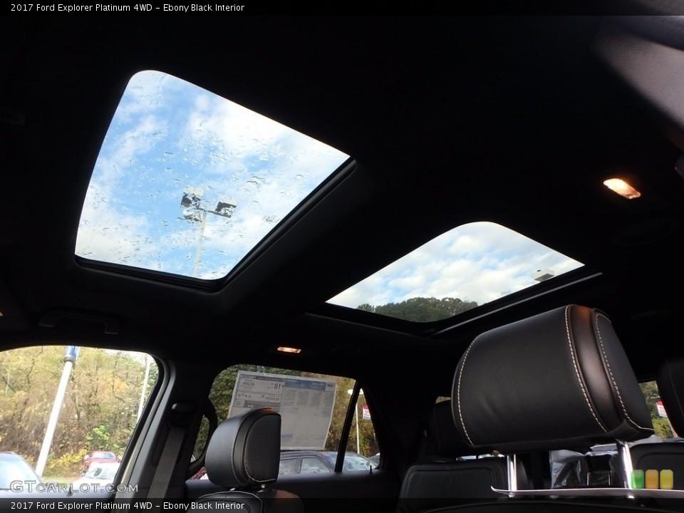 Ebony Black Interior Sunroof for the 2017 Ford Explorer Platinum 4WD #123483880