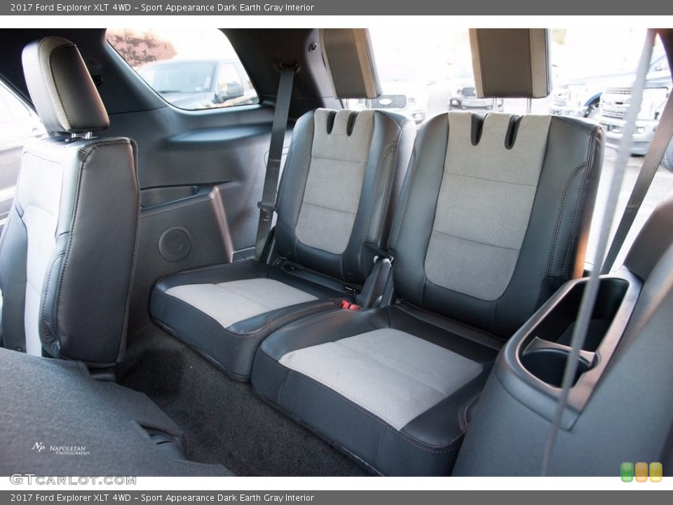 Sport Appearance Dark Earth Gray Interior Rear Seat for the 2017 Ford Explorer XLT 4WD #123557098