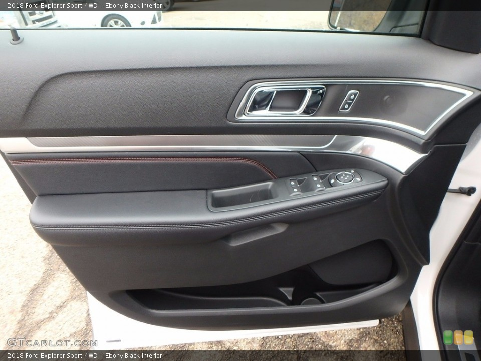 Ebony Black Interior Door Panel for the 2018 Ford Explorer Sport 4WD #123895495