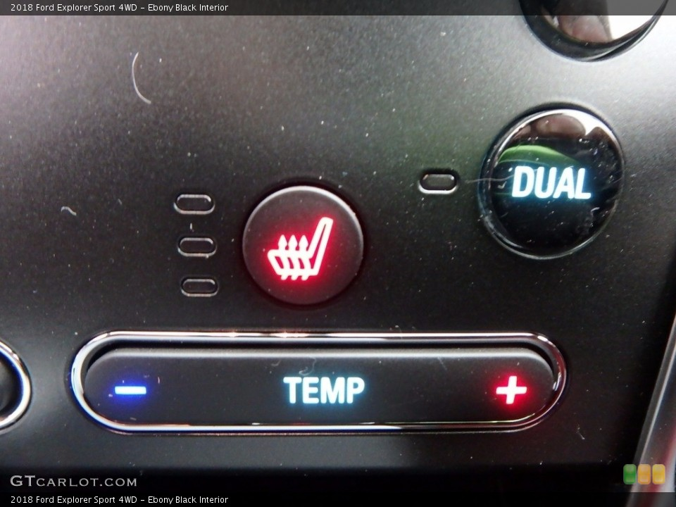 Ebony Black Interior Controls for the 2018 Ford Explorer Sport 4WD #123895567