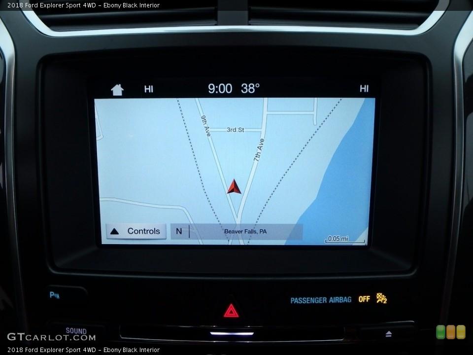 Ebony Black Interior Navigation for the 2018 Ford Explorer Sport 4WD #123895582