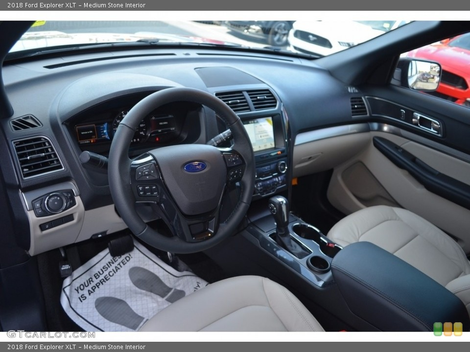 Medium Stone Interior Dashboard for the 2018 Ford Explorer XLT #123929980