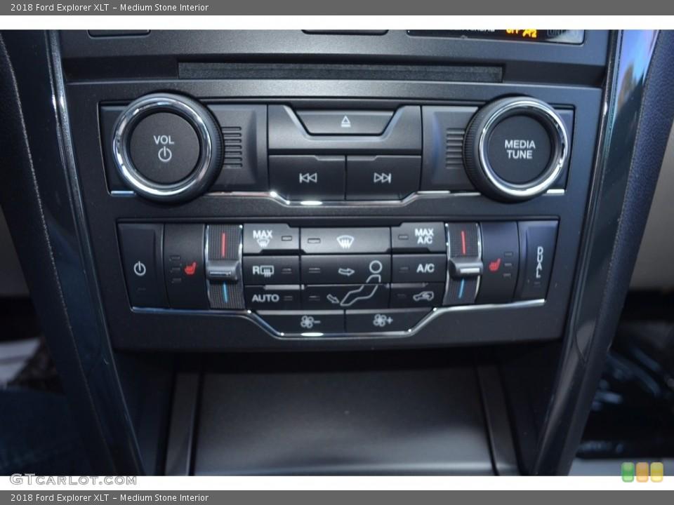 Medium Stone Interior Controls for the 2018 Ford Explorer XLT #123930193