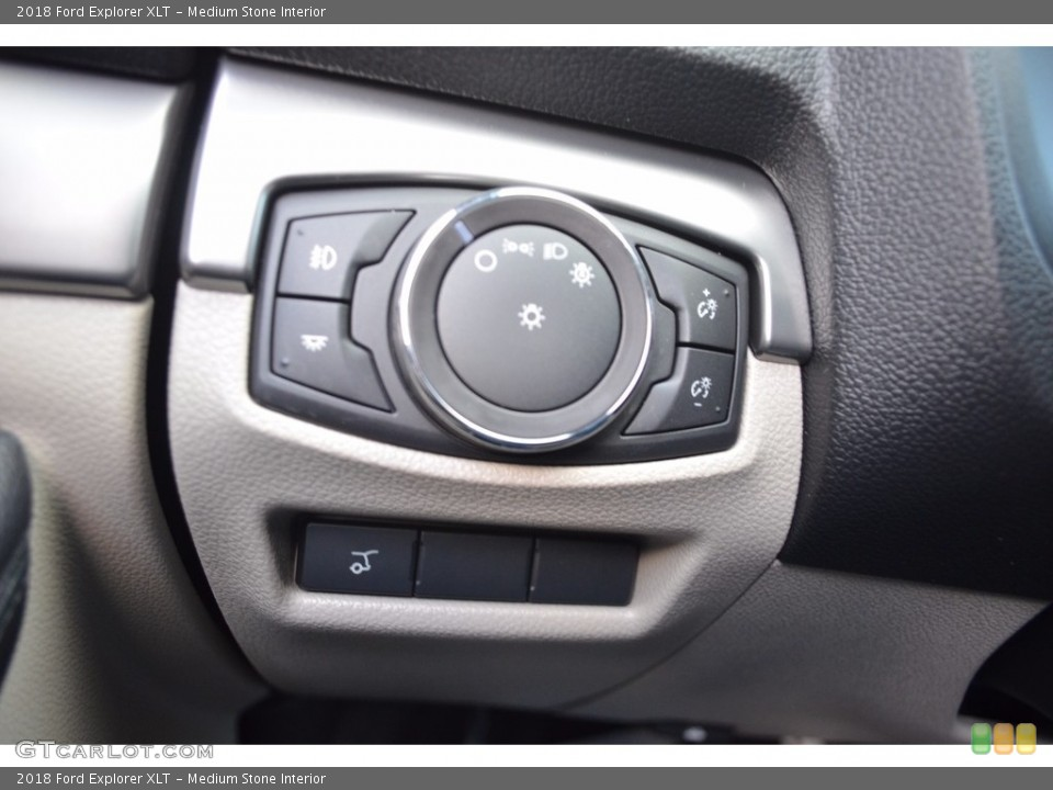Medium Stone Interior Controls for the 2018 Ford Explorer XLT #123930298