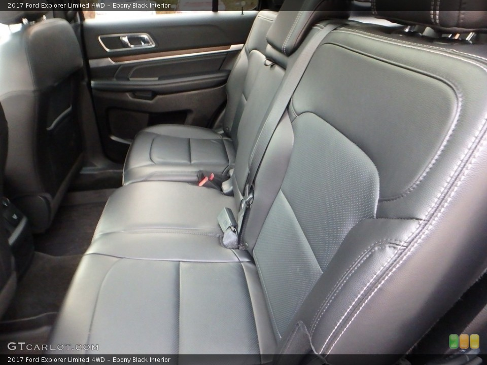 Ebony Black Interior Rear Seat for the 2017 Ford Explorer Limited 4WD #123933409