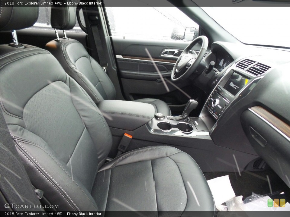 Ebony Black Interior Photo for the 2018 Ford Explorer Limited 4WD #123949000
