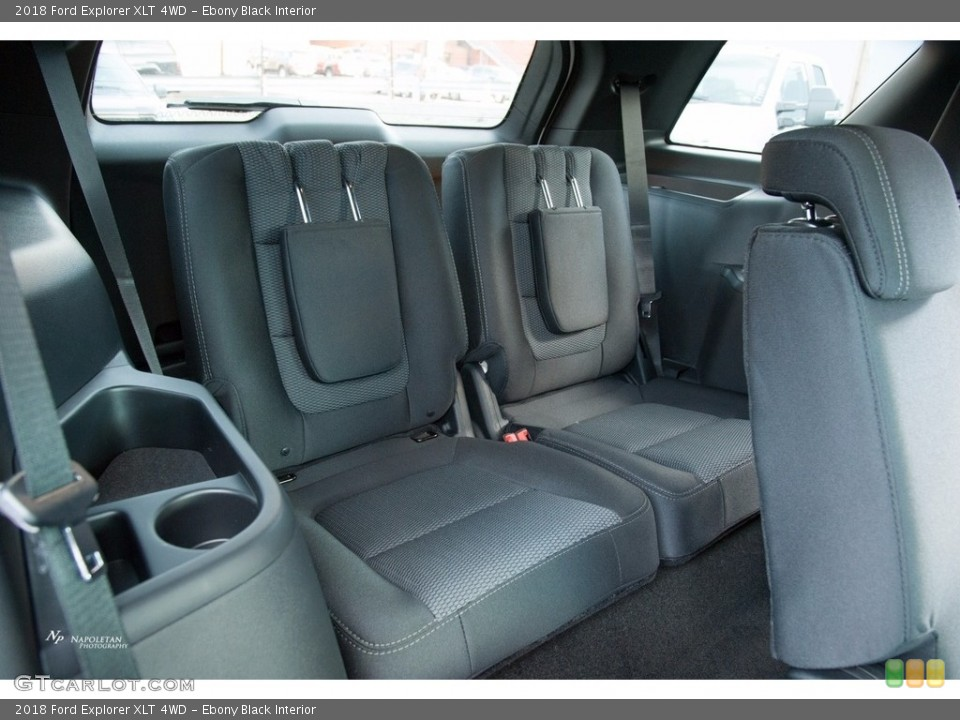 Ebony Black Interior Rear Seat for the 2018 Ford Explorer XLT 4WD #124008106