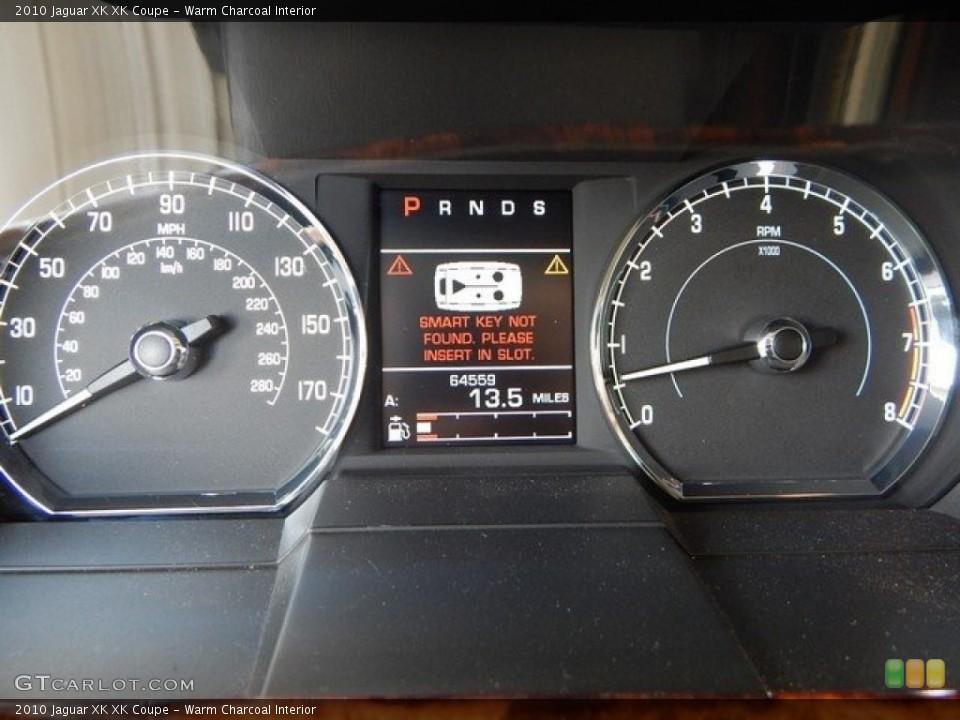 Warm Charcoal Interior Gauges for the 2010 Jaguar XK XK Coupe #124027498