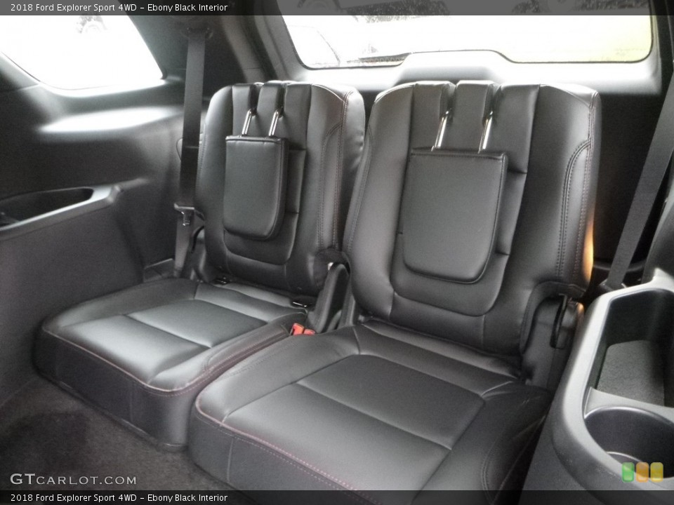 Ebony Black Interior Rear Seat for the 2018 Ford Explorer Sport 4WD #124284981