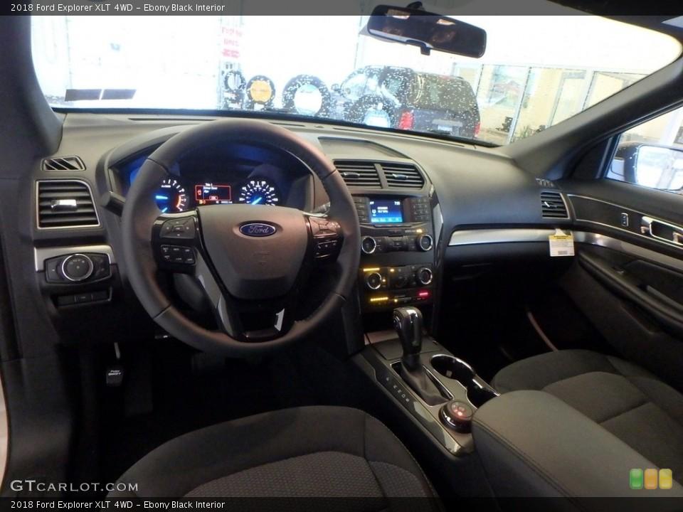 Ebony Black Interior Photo for the 2018 Ford Explorer XLT 4WD #124296255
