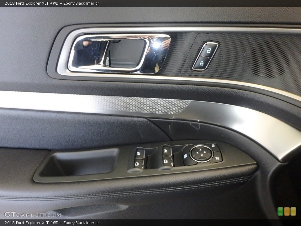 Ebony Black Interior Controls for the 2018 Ford Explorer XLT 4WD #124296282
