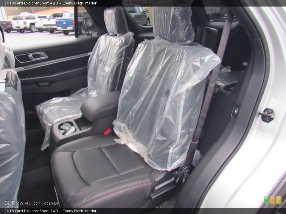 Ebony Black Interior Rear Seat for the 2018 Ford Explorer Sport 4WD #124302216