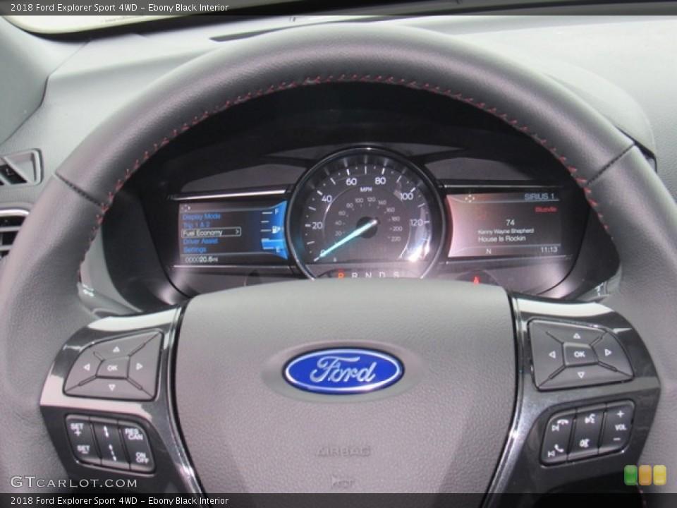 Ebony Black Interior Gauges for the 2018 Ford Explorer Sport 4WD #124302291