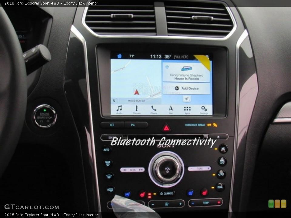 Ebony Black Interior Navigation for the 2018 Ford Explorer Sport 4WD #124302303
