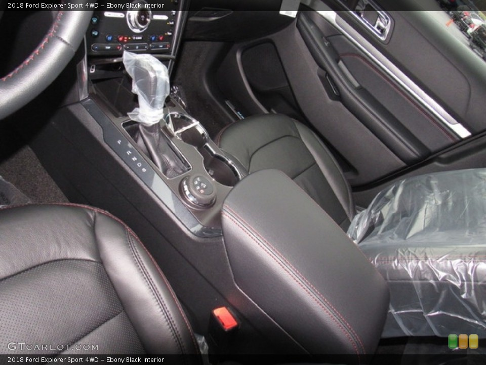 Ebony Black Interior Front Seat for the 2018 Ford Explorer Sport 4WD #124302396