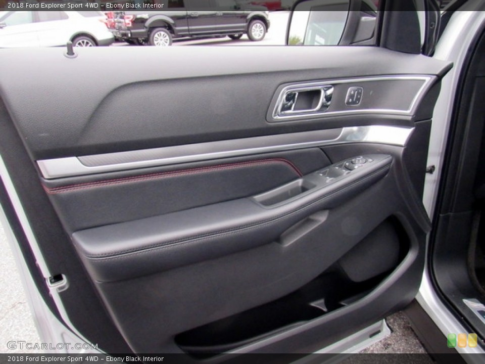 Ebony Black Interior Door Panel for the 2018 Ford Explorer Sport 4WD #124302426