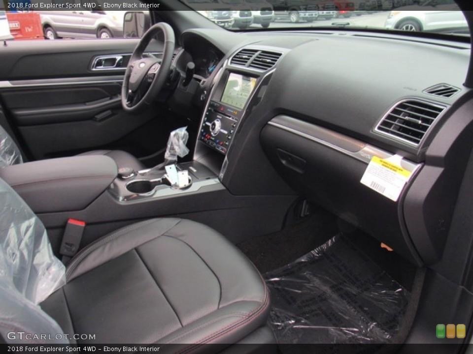 Ebony Black 2018 Ford Explorer Interiors