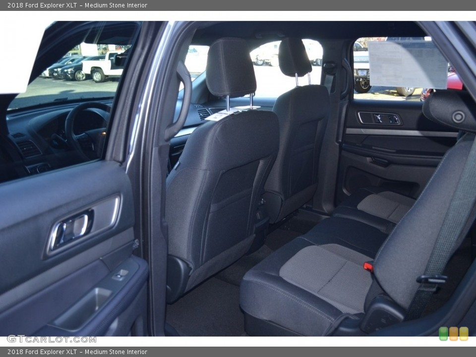 Medium Stone Interior Rear Seat for the 2018 Ford Explorer XLT #124386162