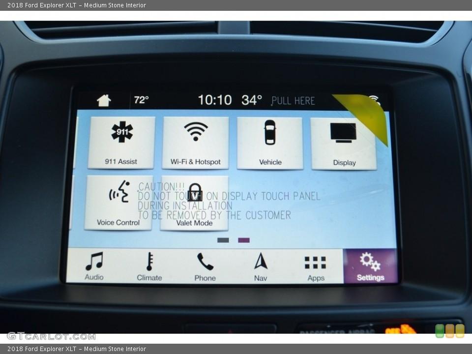 Medium Stone Interior Controls for the 2018 Ford Explorer XLT #124386259
